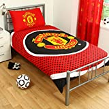 MANCHESTER UNITED FC Official SINGLE Duvet & Pillow Case New Season 14/15 BULLSEYE Design