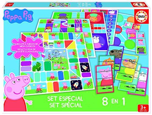 Peppa Pig - Set especial de 8 juegos (Educa Borrás 16791)