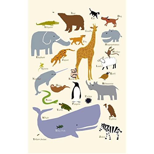 Animal Alphabet Poster 13 x19 Inch poster