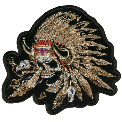 Hot Leathers Indian Skull Patch (5