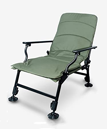LIANJUN Chaise de pêche professionnelle pliante Chaise de plage Jardin Patio Outdoor Portable Armée Accessoires de pêche verte