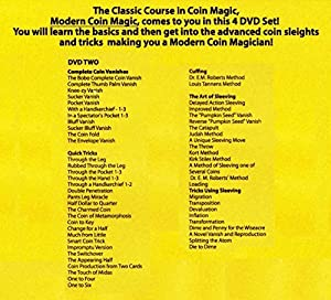 5 X Modern Coin Magic - Over 170 Sleights and Tricks on a 4 DVD Set - By Magic Makers