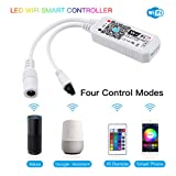 Konxie Smart WiFi RGB/GRB LED Controller, Compatible with Alexa/Google Assistant, for 5050/3528 LED Strip Light, Have 24 Key Remote Control,Support Android iOS System (Color: Wifi Led Rgb Controller)