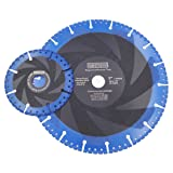 DT-DIATOOL Metal Cutting Discs Set Diam 4.5 Inch and 9 Inch - All Purpose Diamond Cut-Off Wheel for Steel Pipe Stone Reinforced Concrete Iron (Color: Black and Blue, Tamaño: 4.5 inch and 9 inch)