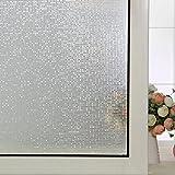 Coavas Mini Mosaic No-Glue 3D Static Decorative Privacy Window Films,Window Glass Film (White,17.7-by-78.7 Inch)