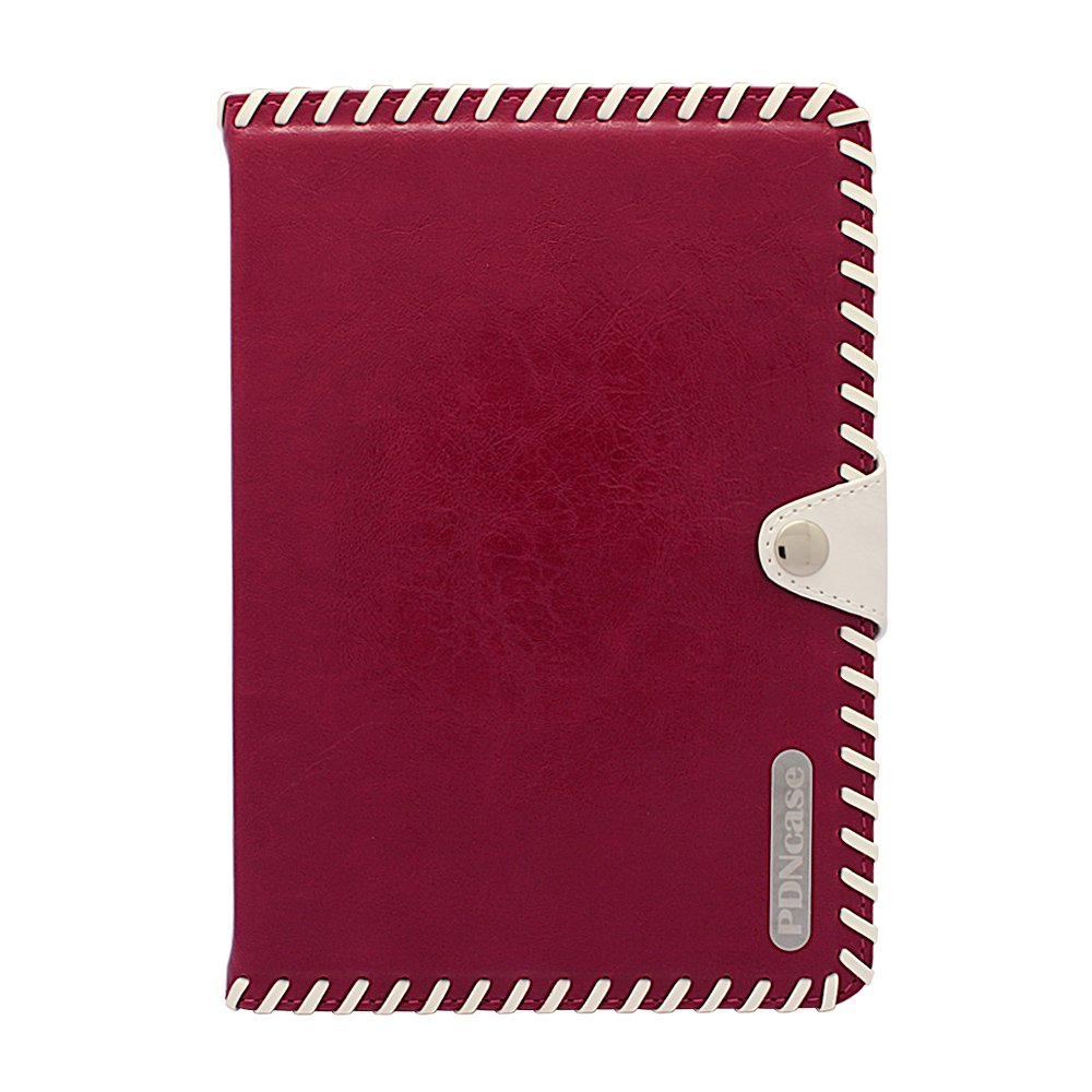 PDNCASE iPad Mini 2 Case Genuine Leather Wallet Case Compatible for iPad Mini 2 with Retina Display Color Claret RedCustomer review