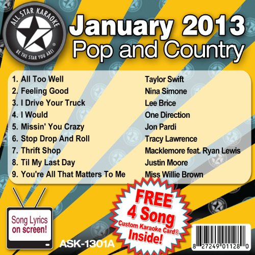 All Star Karaoke Pop and Country Series (ASK-1301A) (Karaoke Cds One Direction compare prices)