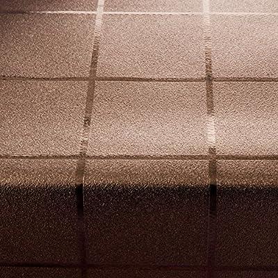 Festliche Wachstischdecke Block   kaffeefarben glänzend   abwaschbar   Meterware