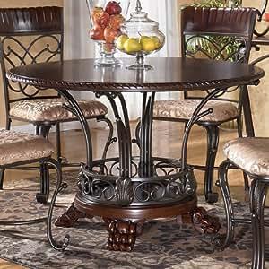 Traditional Dark Brown Alyssa Dining Room Table Tables