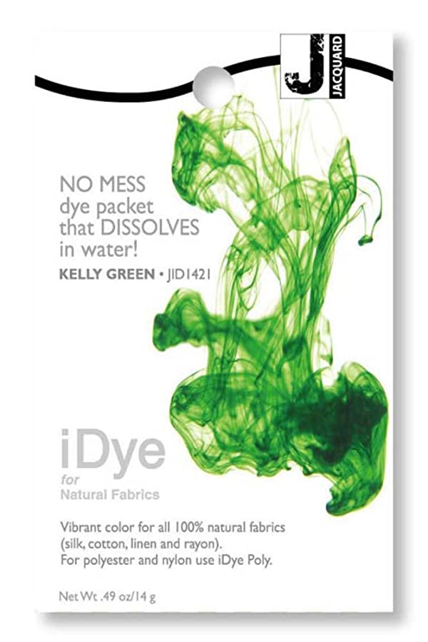 Jacquard 216544 iDye Fabric Dye 14 Grams-Kelly Green (Color: Kelly Green)