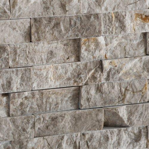 SILVERADO GRAY 5/8X2 Marble SPLIT-FACED Mosaic Tile