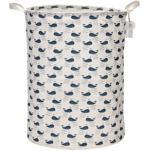 Find Discount Sea Team 21.7 Oversize Linen & Cotton Fabric Folding Nursery Laundry Hamper Bucket Cy...