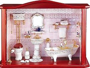 reutter porzellan miniaturen gro es wandbild badezimmer 31cm k che haushalt. Black Bedroom Furniture Sets. Home Design Ideas