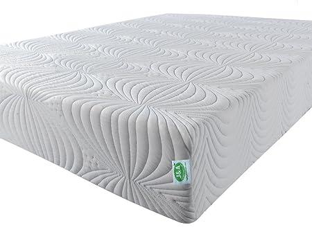 140 x 190 x 20 cm De luxe matelas en mousse à mémoire de forme avec tissu Coolmax, Solution parfaite pour les maux de dos. Dont 2 oreillers gratuits. Oreillers en mousse à mémoire. Visco élastique matelas idéal po