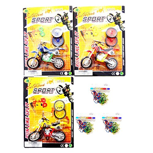 Best 3 Pack Toy Dirt Bike Motocross Mini Motorcycle Game Sets with Military Bandz Party Favor Stocking Stuffers Under 10 Children Kids Boys Unique Cool Birthday Stocking Stuffer Present Idea (Cheap Mini Dirt Bikes compare prices)