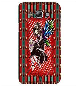 PrintDhaba Cute Girl D-4611 Back Case Cover for SAMSUNG GALAXY E7 (Multi-Coloured)