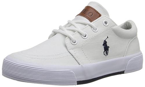 Name Brand Polo Ralph Lauren Faxon II White Ripstop For Kids Sale