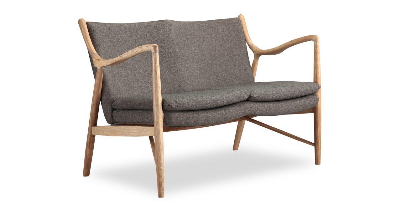 Kardiel Copenhagen 45 Mid-Century Modern Loveseat/2 Seat Sofa - Gosford Twill
