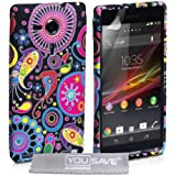 Yousave Accessories Silicone Gel Cover Case for Sony Xperia SP - Jellyfish