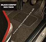 Citroen C4 (2003 to 2010) Black Car Mats + Red Trim