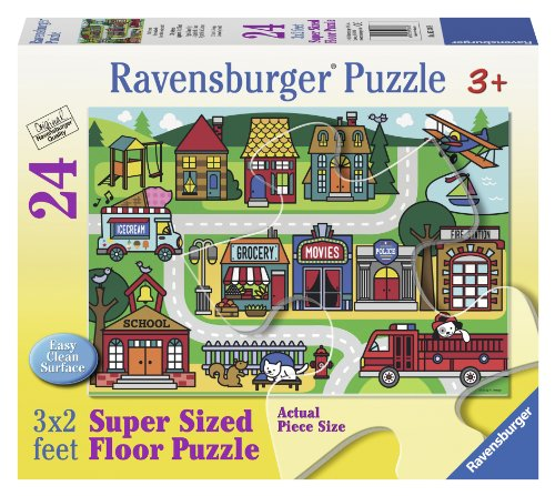Ravensburger City Streets Floor Jigsaw Puzzle (24-Piece) - 1