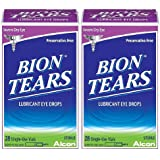 Bion Tears Lubricant Eye Drops-0.015 oz, 28 ct Single Use Vials, 2 pack
