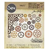 Ellison Sizzix Gearhead Thinlits Die Set by Tim Holtz (22 Pack)