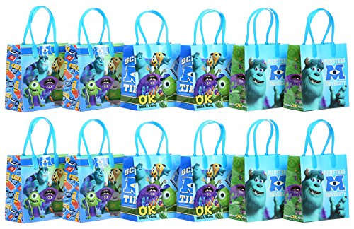 "Disney Pixar Monsters University Party Favor Goodie Gift Bag - 6"" Small Size (12 Packs)"