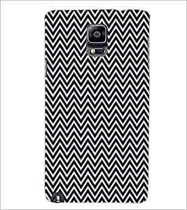 PrintDhaba ZigZag Pattern D-5908 Back Case Cover for SAMSUNG GALAXY NOTE 3 (Multi-Coloured)