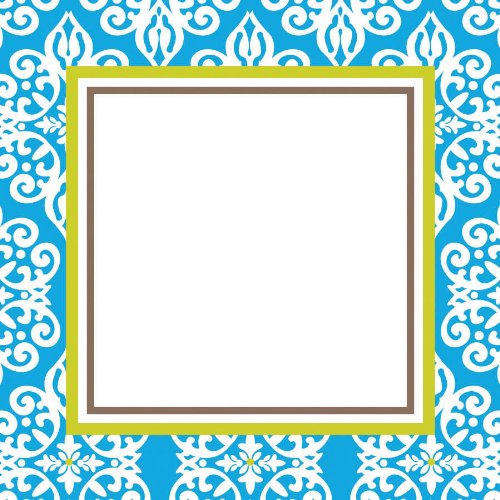 Three Designing Women Designer Self Adhesive Stickers, Blue Medallion Collection front-77238