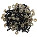 Tebery 600-Piece Solid Black Eyes for Sewing for Bear Doll of DIY (6MM) (Color: Black)