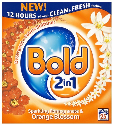 Bold Sparkling Pomegranate and Orange Blossom Laundry Detergent Powder 25 Washes 2 kg (Pack of 4)