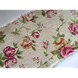 Burlap Frayed Edge Vintage Rose Inspired Ribbon 100mm x 1 Metre
