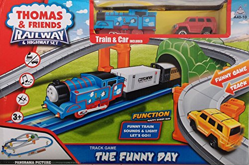 Jaibros Thomas and Friends Railway & Highway Train Set@'NA