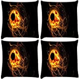Snoogg Eclipse Wallpapers Pack Of 4 Digitally Printed Cushion Cover Pillows 16 X 16 Inch