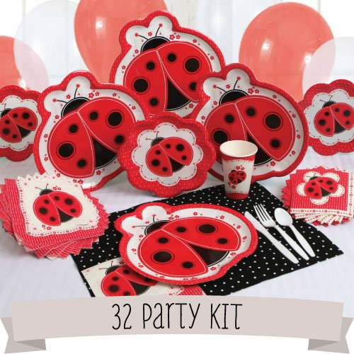 Party Kit Modern Ladybug - 32 Person front-148592