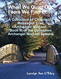 img - for When We Quiet Our Fears We Find Love: A Collection of Channeled Messages from Archangel Michael: Book III of the Collection Archangel Michael Speaks book / textbook / text book