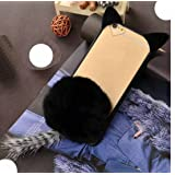 Huawei 2017 GR5/Honor6X/Mate9Lite Case, Very Light Slim Fluffy Cat Ear Tail + Warm Villi Cute Hair Ball Clear Back Cover, WEIFA Newest Super Charming Luxury Cellphone Case for Huawei Honor 6X Black (Color: !Black, Tamaño: Huawei Honor6X)