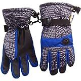 N'Ice Caps Kids Thinsulate and Waterproof Geo Lines Print Ski Gloves