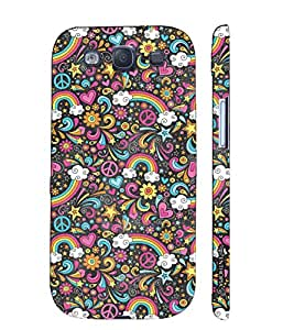 Samsung Galaxy S3 Neo Flowery Rainbow designer mobile hard shell case by Enthopia