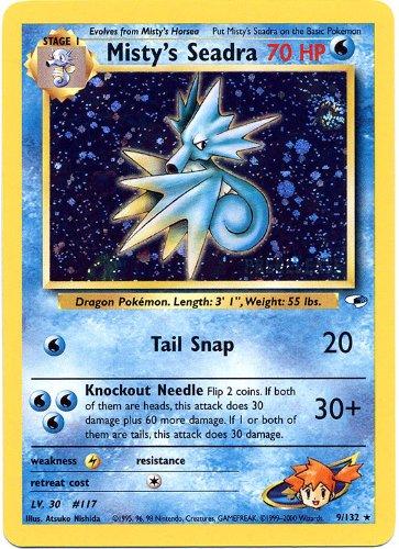 Pokemon-Card-PreRelease-Promo-9132-MISTYS-SEADRA-holo-foil
