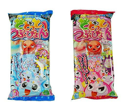 Kracie Dodotto Tsubupyon Soda 0.63 oz + Grape Flavor 0.63 oz DIY Candy Happy Kitchen Kit (Popin Cookin Grape compare prices)