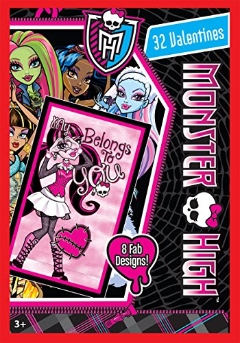 Paper Magic 32CT Showcase Monster High Kids Classroom Valentine Exchange Cards