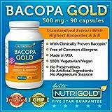 Bacopa GOLD - 500 mg, 90 Vegetarian Capsules (Pure Bacopa Monnieri Extract)