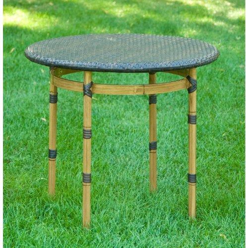 DiKasa Garten Polyrattan und Aluminium Tisch braun cm D.80×74,5 h günstig kaufen
