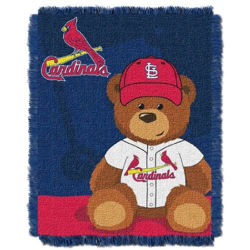 MLB St. Louis Cardinals Field Woven Jacquard Baby Throw Blanket, 36x46-Inch at Amazon.com