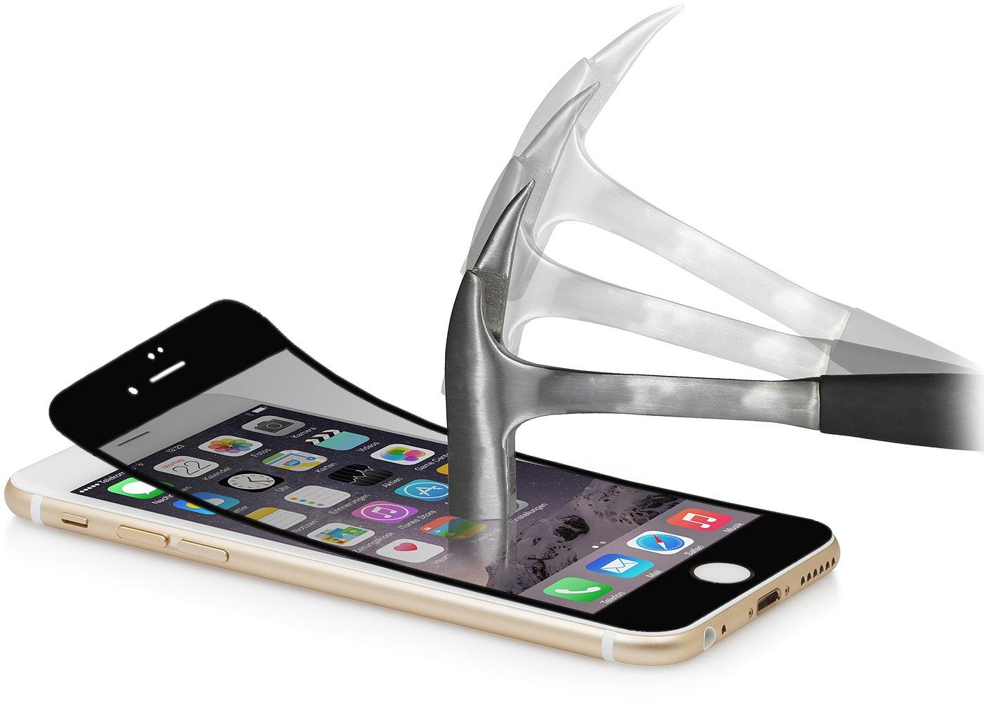 StilGut® protector de pantalla de cristal para el iPhone 6 Plus (5.5) (2 ejemplares), con ribete negro - Electrónica - Más información y revisión del cliente