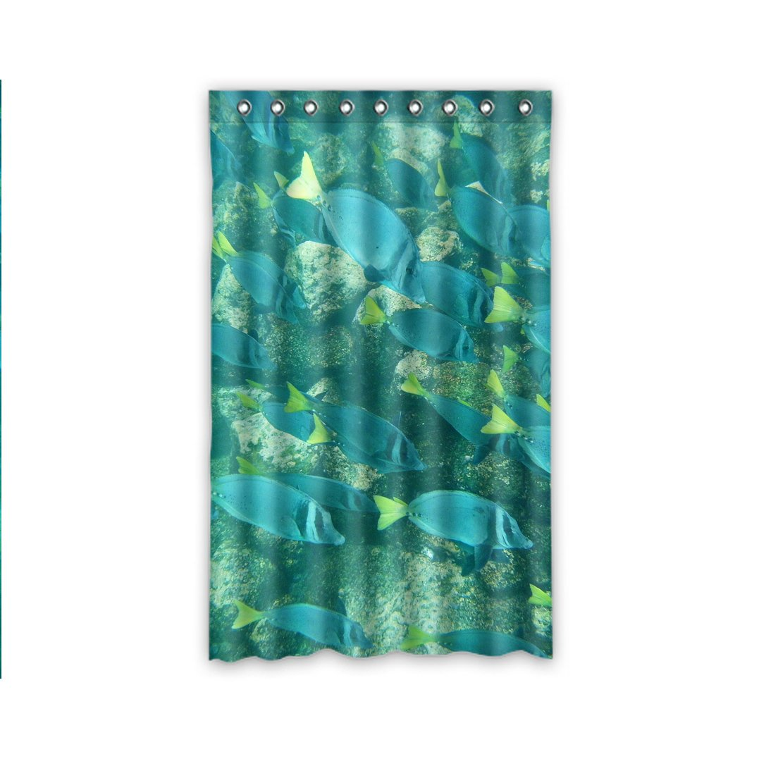 VinVin Tropische Fische Tropical fish Personalisierte Polyester Vorhang Polyurethane Window Curtain127cm x 244cm (1 Stück) günstig kaufen