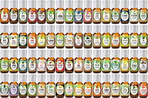 Healing Solutions Aromatherapy Essential Oil Set 64 Pieces - 10 ml
