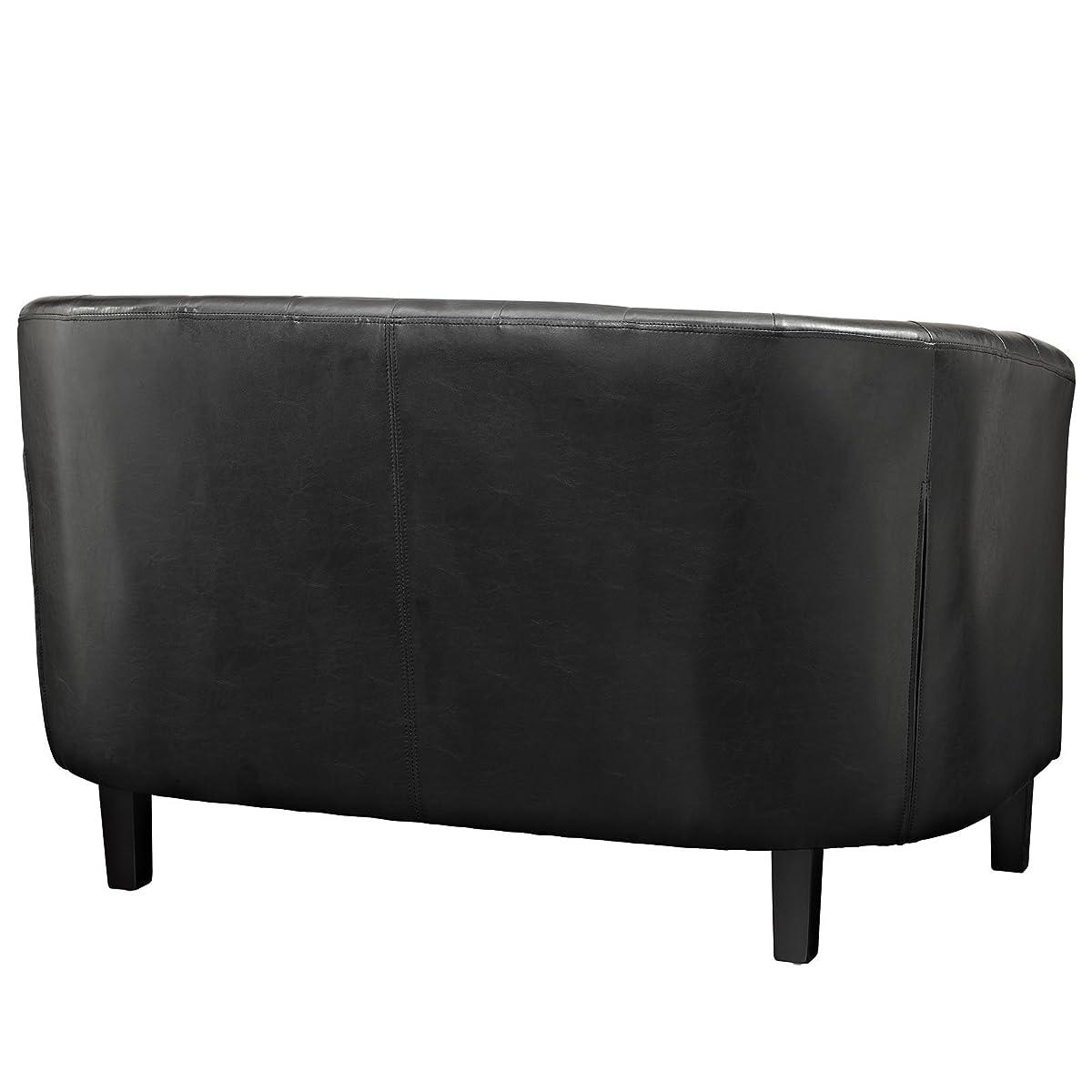 Modway Prospect 2-Seater Loveseat, Black